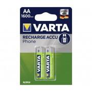 Varta 58399 - 2 buc Baterii reîncărcabile PHONE ACCU AA NiMH/1600mAh/1,2V