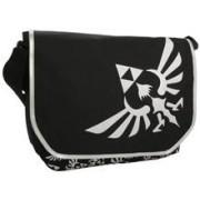 Geanta Zelda Triforce Logo Black Messenger Bag