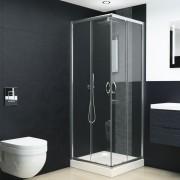vidaXL Cabină de duș, 80 x 70 x 185 cm, sticlă securizată