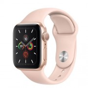 Apple Watch Series 5 Cellular 40mm Gold Aluminum Case Sport Band Pink Sand