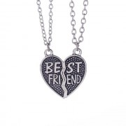 Set 2 Lantisoare cu Pandantive Best Friends Inima , medbff093