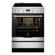 Готварска печка със стъклокерамичен плот Electrolux EKC6450AOX, клас А, 74л. обем, 4 нагревателни зони, инокс