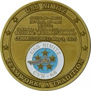 USS Nimitz CVN-68 Challenge Coin by Military Productions