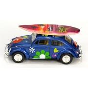 """1967 Volkswagen Beetle """"Love Bug"""" Hawaiian Collectible Car with Surfboard"""