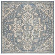 Covor Oriental & Clasic Revere, Patrat, Bej/Albastru, 200x200