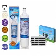 Icepure RWF0500A voor Bauknecht SBS003 Waterfilter + HYG001 Antibacteriele Luchtfilter