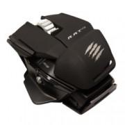 Мишка Mad Catz R.A.T. M, оптична (6400dpi), безжична, 10 програмируеми бутона, USB, черна/матирана