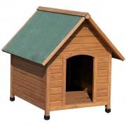 Kerbl Casota para cães 100x88x99 cm castanho e verde 82395