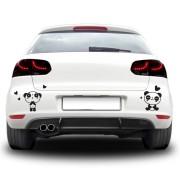 Sticker auto - Cuplu panda indragostit