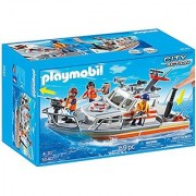 PLAYMOBIL Rescue Boat with Water Hose Play Set