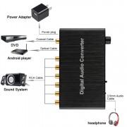 Convertisseur de décodeur audio numérique de 5.1CH avec le coaxial optique de Toslink SPDIF pour le théâtre à la maison / PS4 / PS3 / XBOX360, contrôle de volume de support, AC-3, DTS