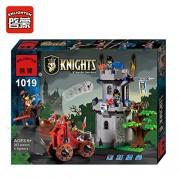 ENLIGHTEN 262 Pcs Lion Medieval Castle Knight Jungle Bastion Blocks Sets Model DIY Assembling Bricks Kids Toys Gifts (1019)