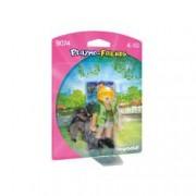Set figurine - Ingrijitor la zoo cu pui de gorila