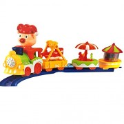 SAISAN Big Train Track Toy with Lights and Music (Multicolor)
