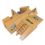 Fingerboard Ramps, Hometall 8PCS Skate Park Kit Ramp Parts for Tech Deck Mini Finger Skateboard Ultimate Parks Training Props