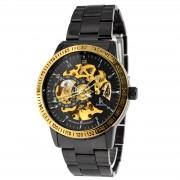 IK Colouring Schwarze Uhr Rolat mit Goldumrandung