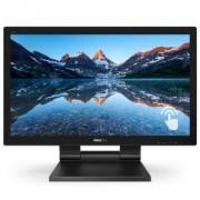 Монитор Philips 222B9T, 21.5 инча (1920x1080) TN LED, 1 ms, 1000:1, 50M:1 DCR, 250 cd/m2, USB, D-Sub, DVI-D, HDMI, DP, черен, 222B9T/00