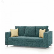 Earthwood - Fully Fabric Upholstered Three-Seater Sofa - Premium Valencia Teal