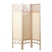 Miliboo Japanischer Paravent NEW HIHA, Tanne und Bambus