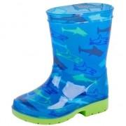 Merkloos Blauwe kleuter/kinder regenlaarzen met haaien 28 - Regenlaarzen