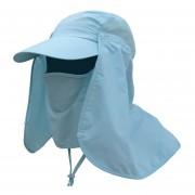 al aire libre protección UV cara cuello solapa gorra de sol verano cara protectora trabajo Casual de verano Sombrero LANG(#Azul cielo)