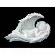 Ange, cupidon endormi dans ses ailes 16 cm