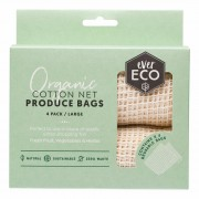 Organic Cotton Net Produce Bags x4