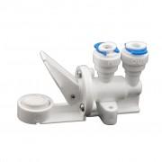 Protectie anti-inundatie cu blocare automata mecanica, cu 2 pastile incluse, pentru furtun 6 mm