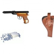 Prijam Air Gun Bmw-2 Model With Metal Body For Target Practice 300 Pellets With Cover Air Gun