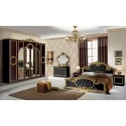 Spálňa BAROK NERO - zlatá, čierna