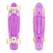 Пени борд Transpy 300 Violet със светещи колелца