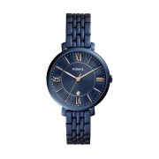 Fossil Ladies Jacqueline Blue Face Band Model ES4094