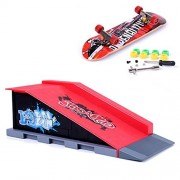 Mini Skate Park Ramp Parts for Tech Deck Fingerboard Finger Skateboard Ultimate Parks Ramp #B