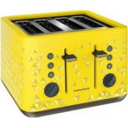 Morphy Richards Prism 4 Slice Toaster 2200 W Pop Up Toaster(Yellow)