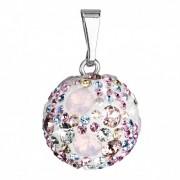 Stříbrný přívěšek koule s krystaly Crystals from Swarovski®, Magic Rose