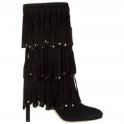 Jimmy Choo Stivaletti stivali donna con tacco camoscio mystery 100
