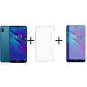 Huawei Y6 (2019) - 16GB - Blauw + Transparant Sillicone Hoesje + Screenprotector