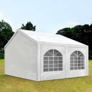 TOOLPORT Partytent 4x5m PE 240g/m² wit waterdicht Gartenzelt, Festzelt, Pavillon