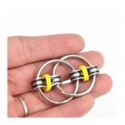 Llavero Hand Spinner Fidget Vent Juguetes De La Descompresión -Amarillo