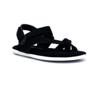 Shoegaro Men's Black Synthetic Leather Casual Sandal