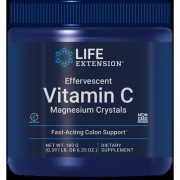 Effervescent Vitamin C Magnesium Crystals, Net Wt 180 grams , 0.397 lb or 6.35 oz