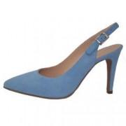 Pantofi dama din piele naturala marca Brenda Zaro F2607A-41-84 blue marime 38