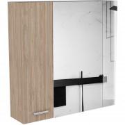 Mueble Gabinete de Baño TuHome Con Espejo Barcelona - Miel
