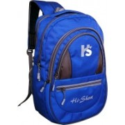Hi-Short stylish 15.6 inch laptop backpack with Rain Cover 25 Backpack(Blue, Black)