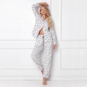 Pijamale dama Serene 2 piese, pantaloni lungi, 100% bumbac flanel