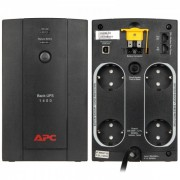 UPS, APC Back-UPS, 1400VA, Schuko outlets, USB connectivity, Line Interactive (BX1400U-GR)