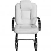 Cadeira Mônaco Branca Costura Preta para Recepções e Clínicas - Pethiflex