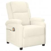 vidaXL Масажен стол, бял, изкуствена кожа
