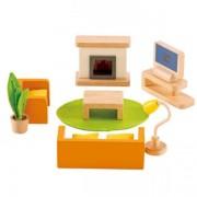 Jucarie eco din lemn Mobilier Media pentru casa papusilor Hape