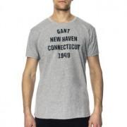 Gant Crew Neck T-shirt Big Print * Fri Frakt *